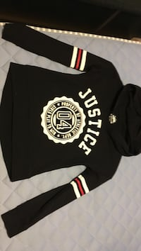 Justice pullover hoodie size 8