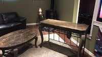 Oval marble table /Matching console Brown /Black  Dollard-des-Ormeaux, H9G 1M2