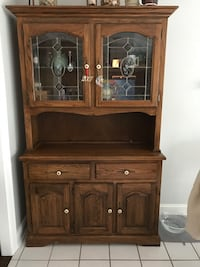 brown wooden cabinet with hutch Sterling, 20164