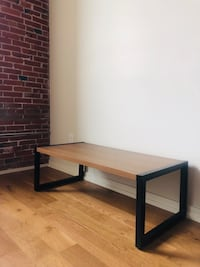 Moving Sale! Faux Wood Coffee Table with Metal legs Philadelphia, 19123