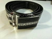 black and white stingray embossed belt
