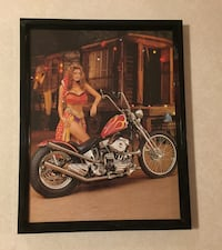 black and red cruiser motorcycle photo