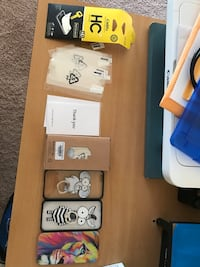 Assorted iphone cases with ring and screen protector