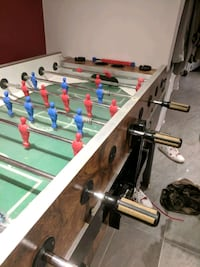 white and green foosball table Montréal, H9A 1A1