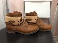 Brown boots size 8 Toronto, M6A 2M8