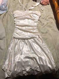 White and grey sparkly homecoming/formal dress. Glendon, 18042