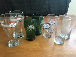 Various beer glasses