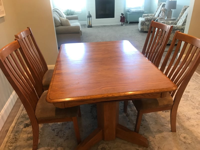 Vintage solid Oak Dining Set 0