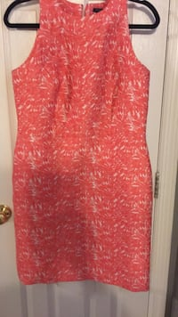 Ann Taylor Coral and white dress size 12 P Huntersville, 28078