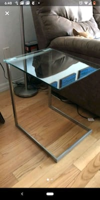 LumiSource Glass side table end table