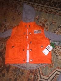 12 month Orange vest with matching hooded long sleeve shirt Germantown, 20876