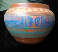 Native American etched Pot MODESTO