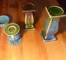 Glazed Terracotta Candle Holders