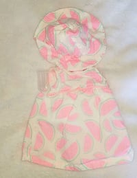 pink and white floral print sleeveless dress Fairland, 20866