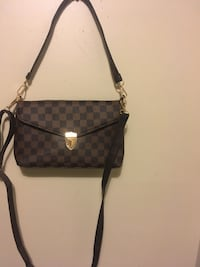 monogrammed black and brown Coach crossbody bag Edmonton, T6K 0J8
