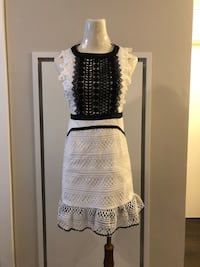 white and black sleeveless dress Richmond, V6X 0M3