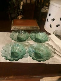 Green glass bowls #4.