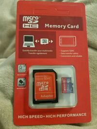 Micro SD card with adapter 256gb Richmond, V6X 1N6