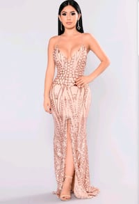 FN Rose Gold Sequin Dress - Size Small