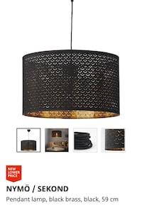 Black and Gold Beautiful IKEA Ceiling Lamp Vancouver, V6A 3G7