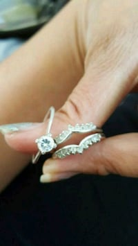 silver-colored diamond ring North Las Vegas, 89081