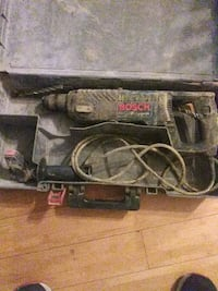 black and gray Bosch corded angle grinder 51 km