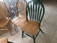 two brown wooden windsor chairs Tampa, 33617