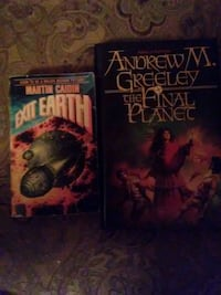 two assorted-title books