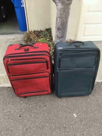 two red and black luggage bags San Lorenzo, 94580