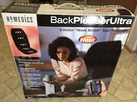Homedics back pleaser ultra 5-motor wave action seat massager with heat opened box never used  Walled Lake, 48390