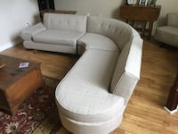 Vintage 1950's sectional sofa