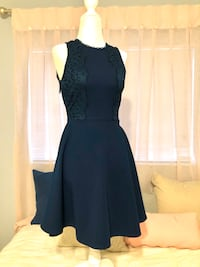 Dark teal high neck cocktail dress a size XS Coral Springs, 33065