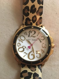 Gold and leopard print Betsey Johnson watch Jacksonville, 32206