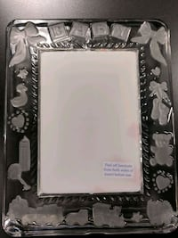 Princess House Crystal Baby Picture Frame