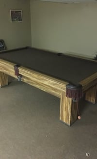 8' Oak Pool Table - Reduced Price