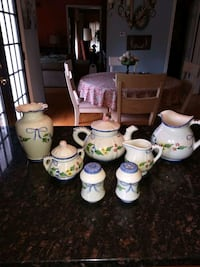 white-and-pink floral ceramic tea set Silver Spring, 20906