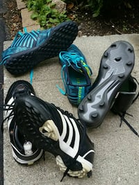 3 Adidas soccer shoes for boys Mississauga, L5N 7Y6