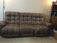 Brown couch two recliner seats need truck pick up  Winter Springs, 32708