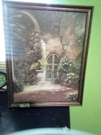 brown wooden framed painting of house Keithville, 71047