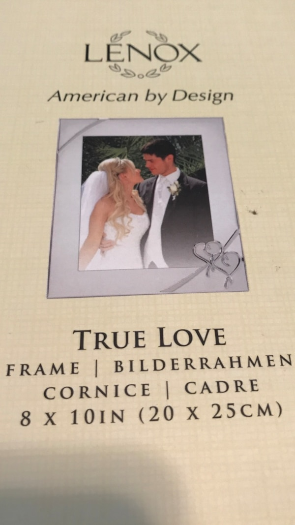 53e3e5fbbff Used Lenox American by Design True love photo frame for sale in ...