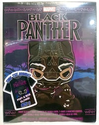 Funko Pop Black Panther Box set w/ shirt. Target Modesto, 95357