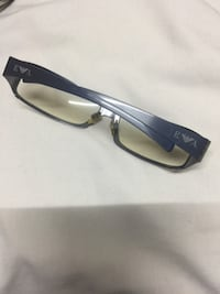 Emporio Armani metal frame with very light color lens wrap around style . Toronto