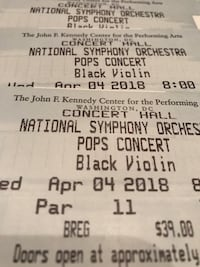 4 Tickets to Black Violin this Wednesday Lorton, 22079