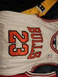 white and red Chicago Bulls 23 jersey Denver, 80236