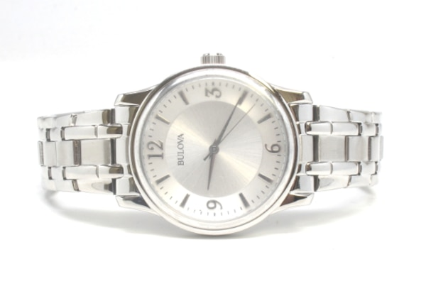 Men's Bulova Silver Dial Stainless Watch
