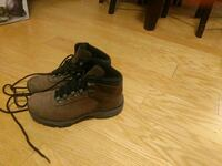 black-and-brown leather hiking boots Toronto, M4E 2B6