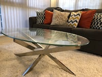 Modern Glass Top Coffee and Side Tables White Rock, V4B 2A5