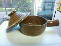 two brown and white ceramic bowls Woodland, 98674