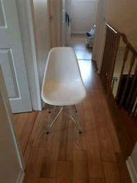 grey metal frame white plastic armless chair Mississauga, L5M 3Z1