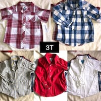 Boys 3T button down shirts